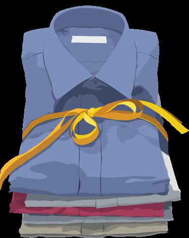 Как свернуть рубашку