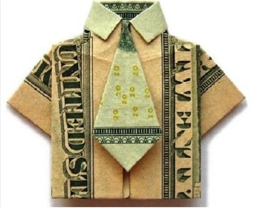 Как сделать денежную рубашку?