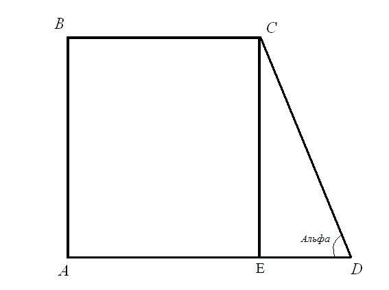 Как обнаружить периметр прямоугольной трапеции